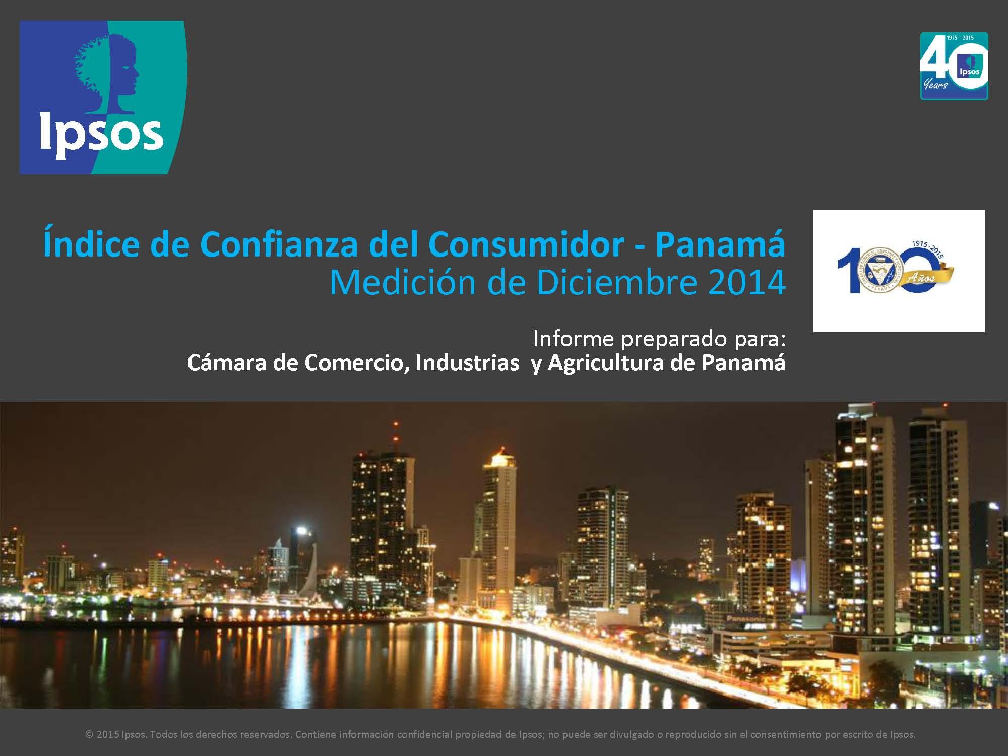 Índice de Confianza del Consumidor – Diciembre 2014