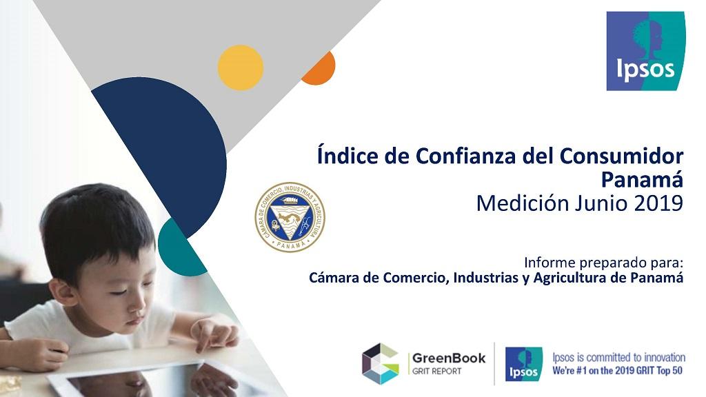 Índice de Confianza del Consumidor Panamá Medición Junio 2019