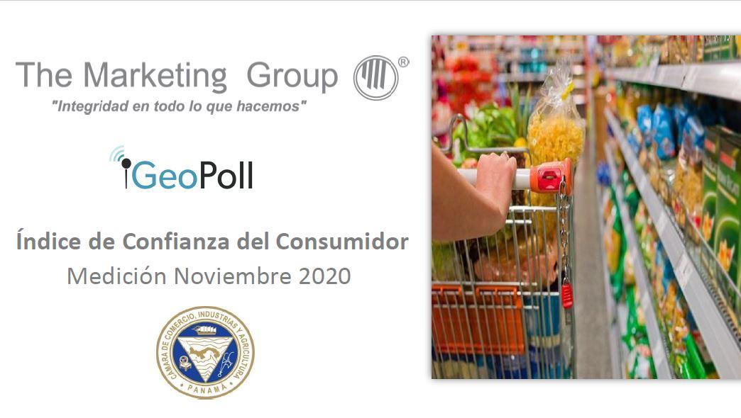 Índice de confianza del consumidor panameño noviembre 2020